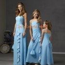 Sky Blue Chiffon Custom-made Bridesmaid Dress/Evening Dress/Home Coming