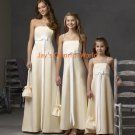 Yellow Chiffon Straight Neckline Custom-made Bridesmaid Dress/Evening Dress/Home Coming