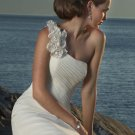 Detachable Shoulder Beaded Chiffon Custom-made Wedding Dress