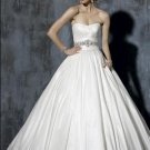 Ball Scoop Neckline Beaded Taffeta Wedding Dress Bridal Gown