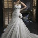 Sweetheart Neckline Strapless Taffeta Wedding Dress Bridal Gown