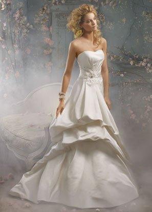 Backless Scoop Neckline Beading Taffeta Wedding Dress Bridal Gown