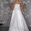 A-line Strapless Beading Wedding Dress Bridal Gown
