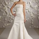 Backless Strapless Appliqued Wedding Dress Bridal Gown