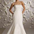 Mermaid Strapless Sweep Train Satin Wedding Dress Bridal Gown