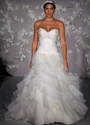 Sweetheart Strapless Organza Beading Wedding Dress Bridal Gown JH009