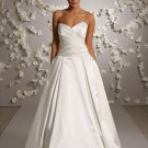 Sweetheart Ball Backless Taffeta Wedding Dress Bridal Gown JH012
