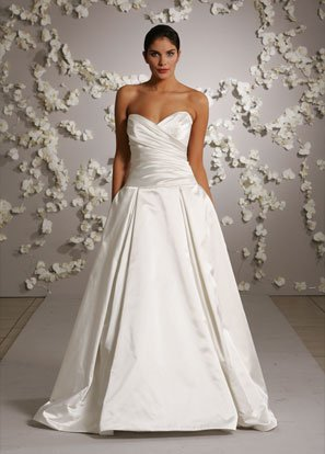 Sweetheart Ball Backless Taffeta Wedding Dress Bridal Gown JH012
