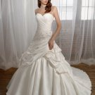 A-line Sweetheart Strapless 2012 Wedding Dress