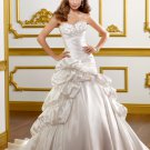 A-line Sweetheart Lace-up Back Strapless 2012 Wedding Dress
