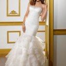 Mermaid Drop Waist Beading Organza 2012 Wedding Dress