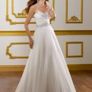 A-line Embroidery Chiffon 2012 Wedding Dress