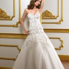 A-line Sweetheart Embroidery and Appliques 2012 Wedding Dress