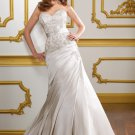 A-line Embroidery Sweetheart Strapless 2012 Wedding Dress