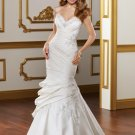 Drop Waist Mermaid Applique Lace-up 2012 Wedding Dress