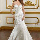 Drop Waist Sweetheart Strapless Mermaid 2012 Wedding Dress