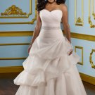 A-line Beading Organza 2012 Plus Size Wedding Dress