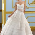 Ball Gown Ruffled Organza 2012 Wedding Dress
