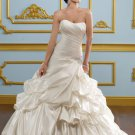Scoop Neckline Strapless Lace-up 2012 Wedding Dress