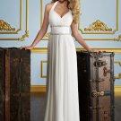 Straight Beading Delicate Chiffon 2012 Wedding Dress