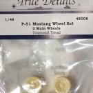 True Details 1/48 P-51 Wheel Set #1 Diamond Tread