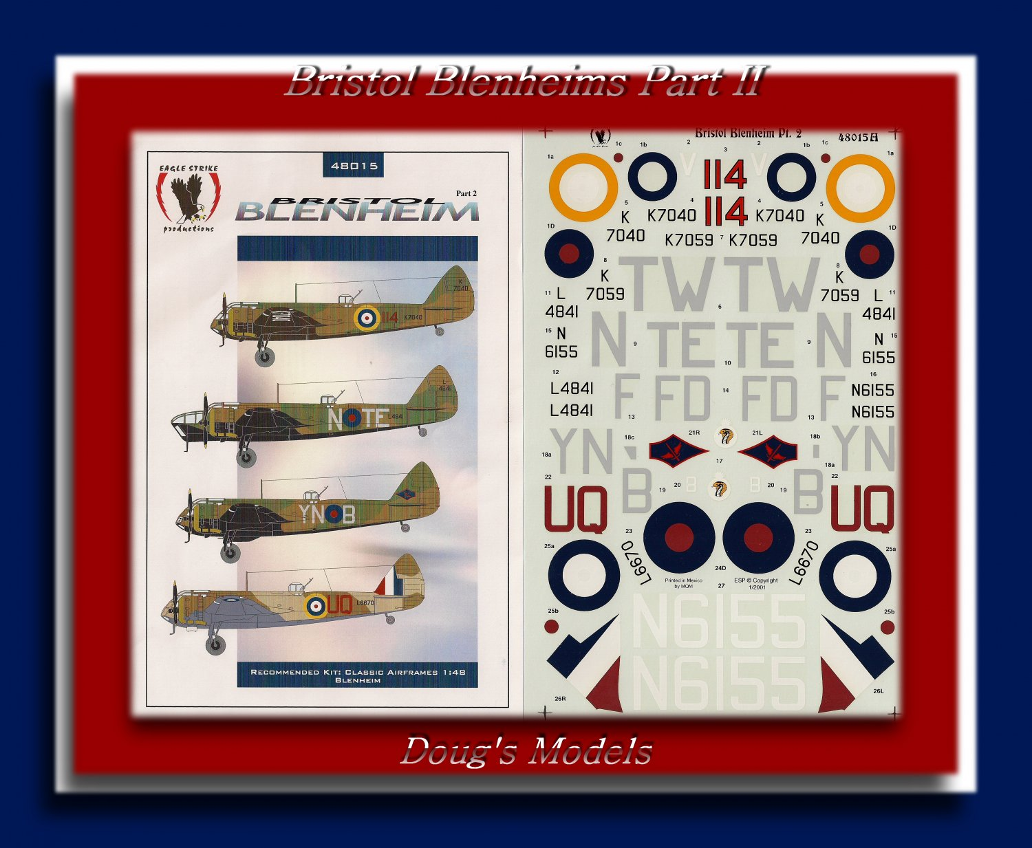 Eagle Strike 1/48 Bristol Blenheim Part 2 48015