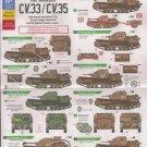 Bison Decals 1/35 Spanish Civil War Fiat Ansaldo CV.33/CV.35 35121