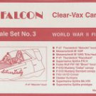 Falcon 1/48 Clear Vax Canopies World War II Fighters Set No. 3