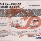 Draw Decal 1/144 A321 44s-A32N-33