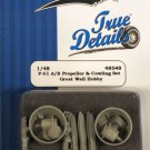 True Details 1/48 P-61 A/B Propeller & Cowling Set 48548