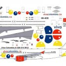 Pointer Dog Decals 1/144 Viva Colomibia A-320-214 2013