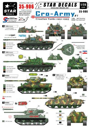 Star Decals 1/35 Cro-Army Croatian Tanks 1991-1995 35-06