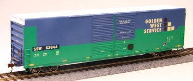 Athearn HO SSW/Ex Golden West Patch 60' FMC High Cube Box Car 62644