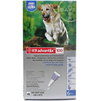 K9 Advantix Topical Flea & Tick Medication Blue 6 Month Supply - Dogs over 55 Lbs