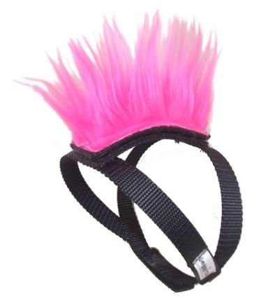 Pink Mohawk Top and Base Strap (brwn/wht/blk) Pet Clothing Dog Hair