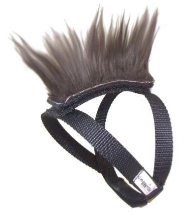 Brown Mohawk Top and Base Strap (brwn/wht/blk) Pet Clothing Dog Hair
