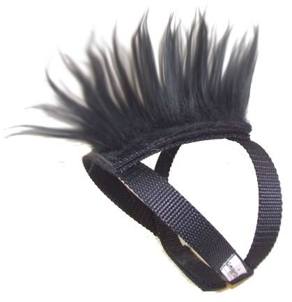Black Mohawk Top and Base Strap (brwn/wht/blk) Pet Clothing Dog Hair