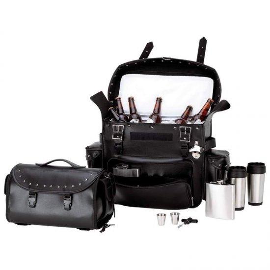 Biker Bar� 10pc Motorcycle Cooler Set TRUNK BAG/COOLER BAG SET