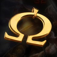 "God of War Symbol ""Sparta"" Titanium Necklace"