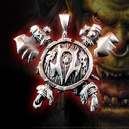 World of Warcraft Horde Orc Platinum Necklace WOW