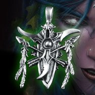 World of Warcraft Night Elf Platinum Necklace WOW