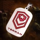 Starcraft II 2 Terran Titanium Dog Tag