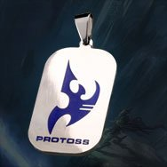 Starcraft II 2 Protoss Titanium Dog Tag