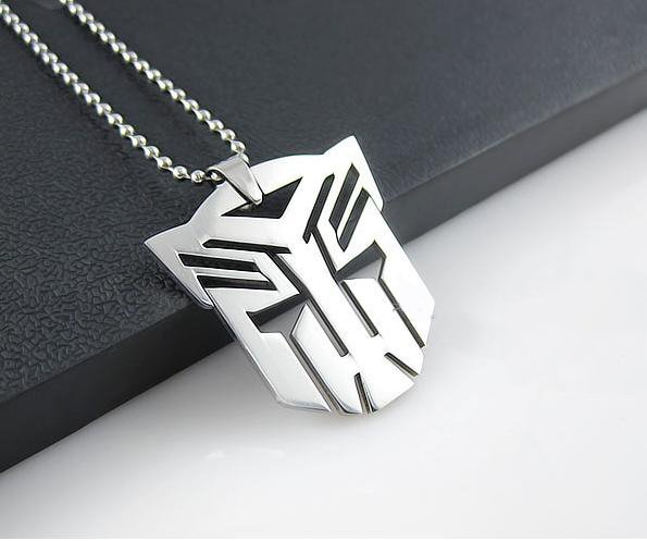 Transformers Optimus Autobot Silver Stainless Steel Pendant Necklace Chain