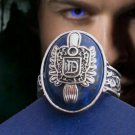 THE VAMPIRE DIARIES Season 1 2 3 Damon Salvatore D Silver Ring Size 10.5 BH082