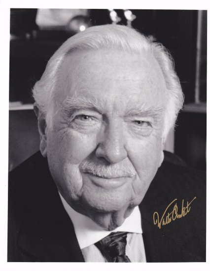 Vintage Photo with autograph of Walter Cronkite with COA