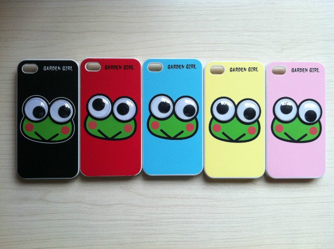 100 x Protective back cover case Frog big eyes for Apple iphone 4