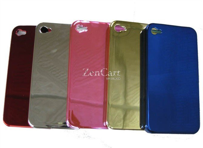 100 x Protect back cover for i Phone 4 in plating coating wholesales