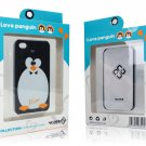 100 x Protective back cover case Penguin for Apple iphone 4