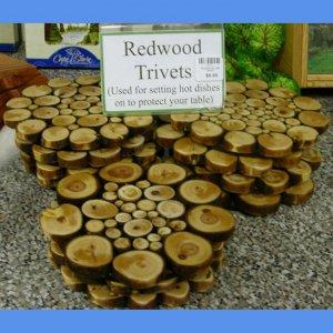 Redwood Limb Trivet #1017 HWP